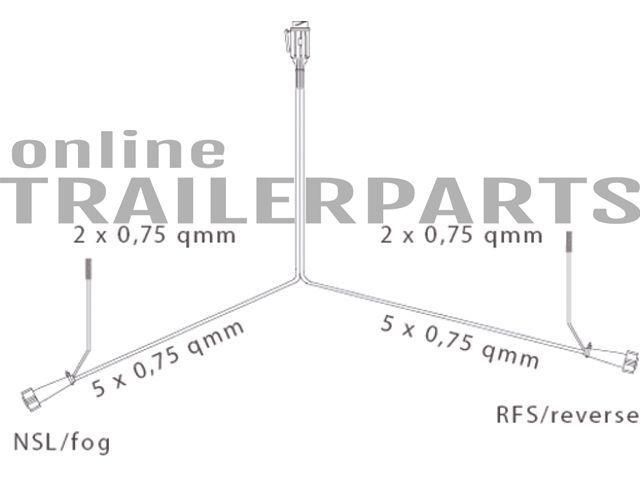 kabelsatz 7p dc 75m aspock