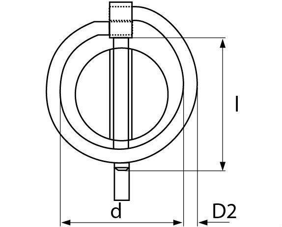 klappstecker verzinkt 10 mm 6st