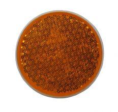 Rückstrahler Orange Schraube Ø81